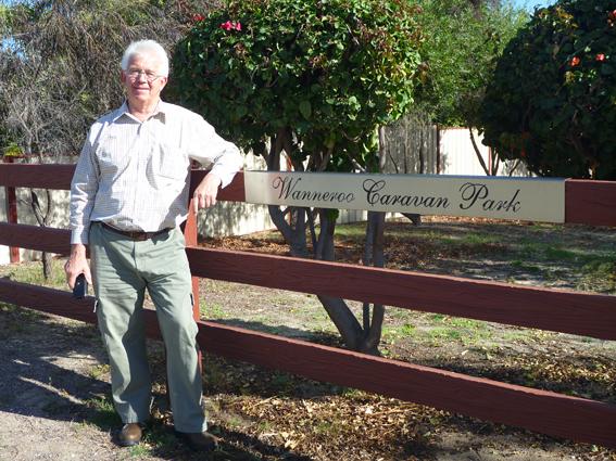 Dennis owner of Wanneroo Caravan Park