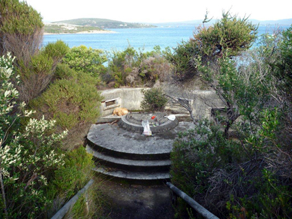 Lunch in one of the old coastal gun emplacements, with a spectacular view over Ataturk Entrance, Albany, WA