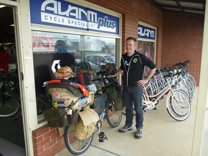 Tarquin - Owner of the bike shop at Albany, WA. And one of the nicest people you could possibly meet!