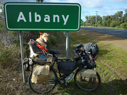 sign saying Albany
