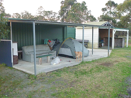 12 Campsite at Manypeaks cricket ground, WA
