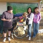 78 Everybody say 'Ahhhh'! Peter, Sunny & Hannah at Munglinup, WA